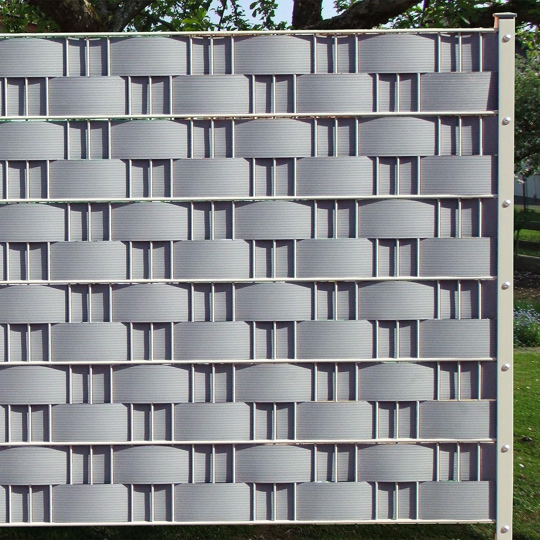 M-tec technology GmbH Sichtschutzstreifen Hart SIE KAUFEN Hier DIREKT BEIM Hersteller PVC ✔ H= 9,5cm x L= 2,52m✔ lichtgrau ✔ 1 Streifen ✔