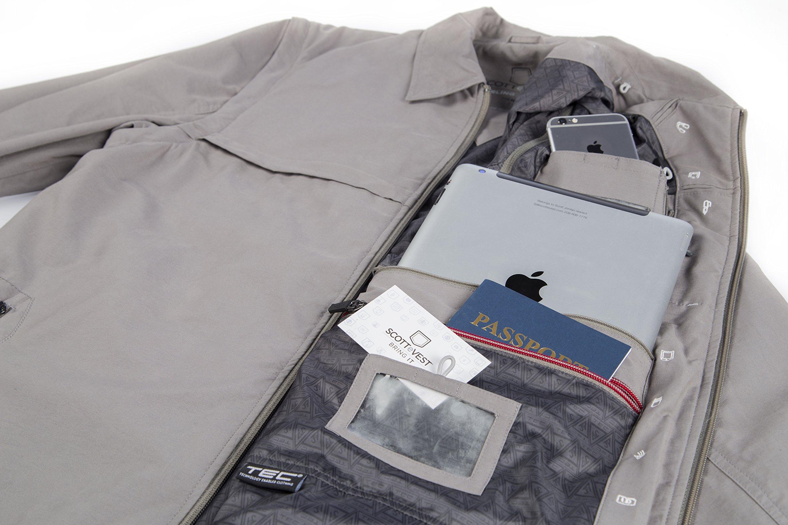 Men's SCOTTeVEST Jacket - 25 Pockets - Travel Clothing BLK M by SCOTTeVEST (Image #5)