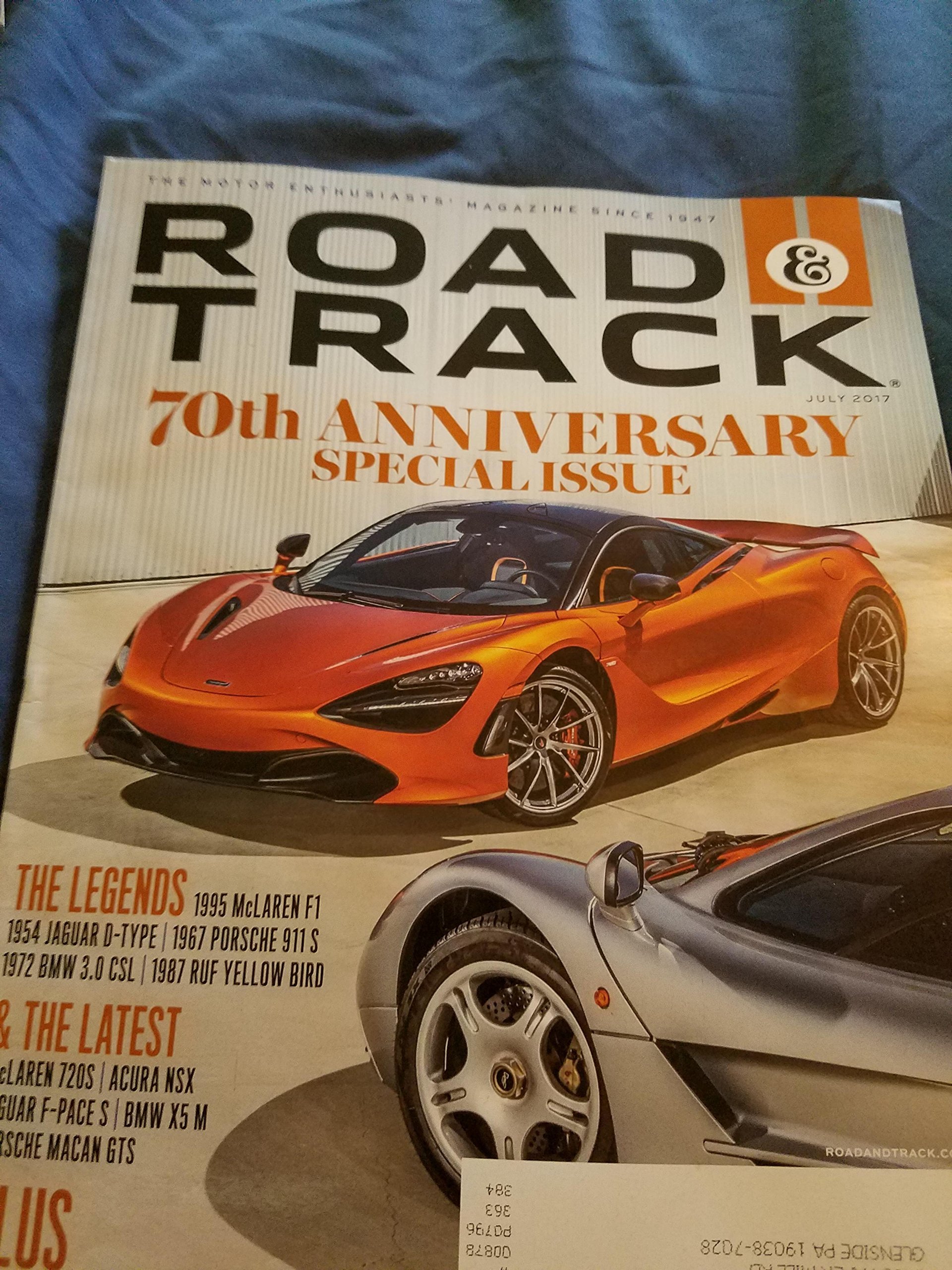 Road & Track July 2017 70th Anniversary Special Issue The Legends