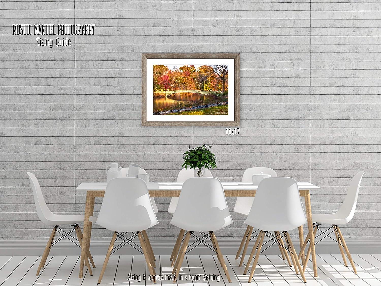 Fall Foliage Print New York City Central Park Autumn Print Bridge Photography Bow Bridge Art Photo Fall Colors Autumn Photography