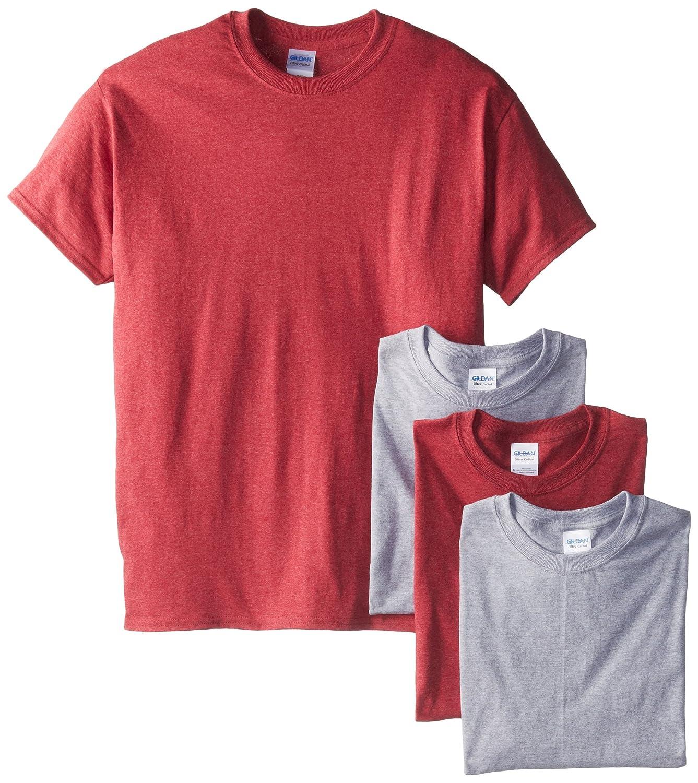 Gildan Mens Short Sleeve 4-Pack Cotton Jersey T-Shirt