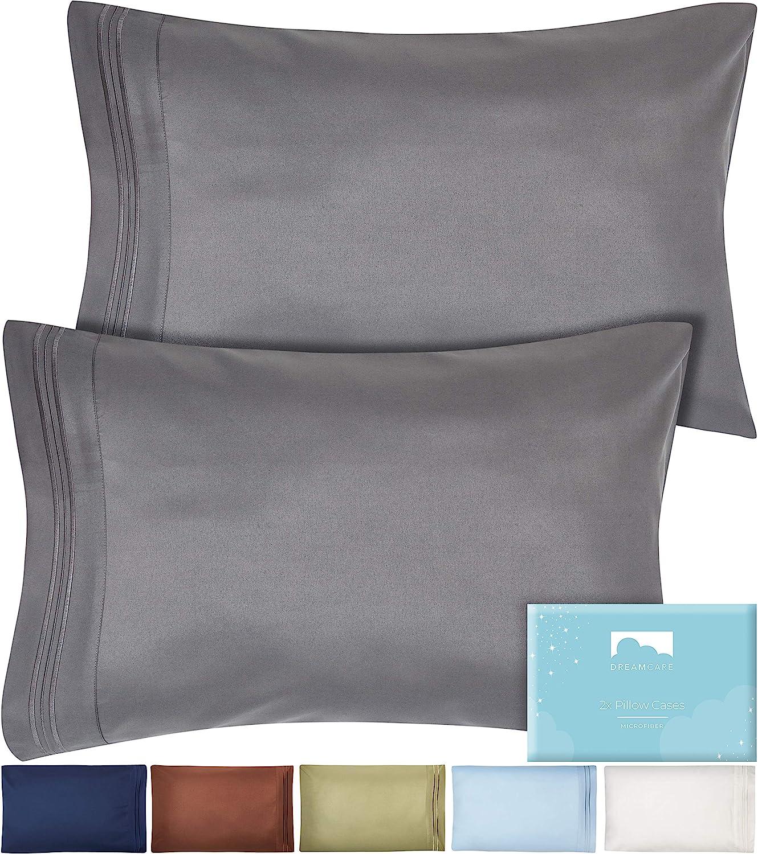 //King Pillowcase 1800 Pillow Case Set Set of 2 Pillow Cases Queen standard