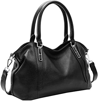 Image Unavailable. Image not available for. Color  On Clearance! Big Sale! Iswee  Women s Genuine Leather Handbag Urban Style Tote Top Handle 1597ab7208125