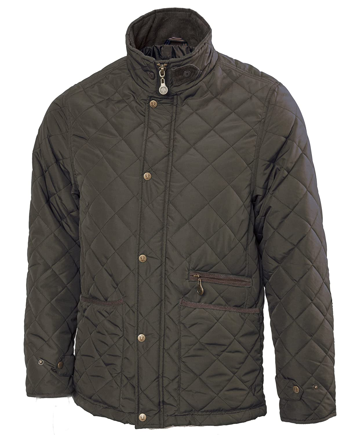 VEDONEIRE Mens GREEN Quilted Jacket (3039) padded quilt coat padded