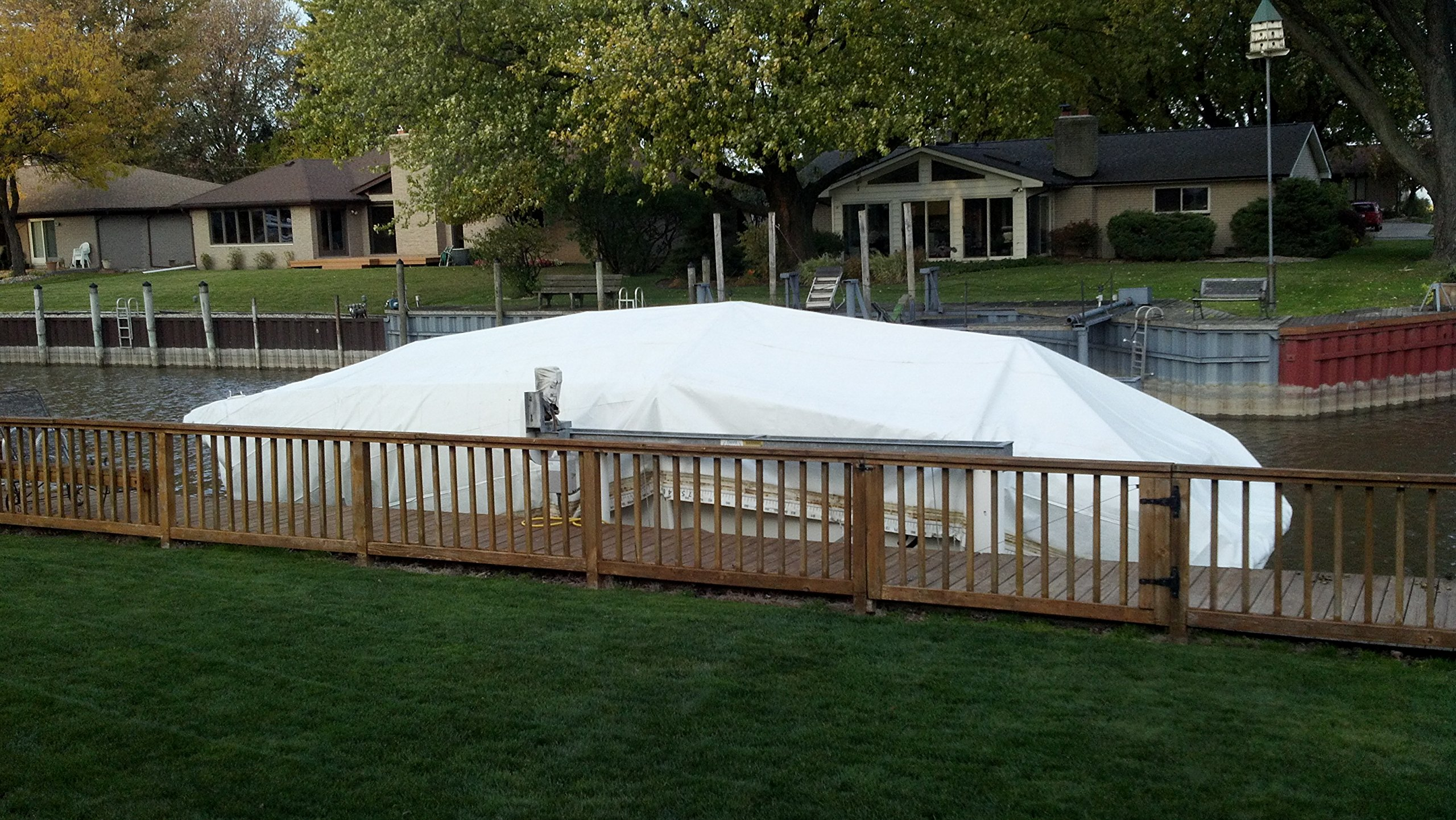Flame Resistant Poly Tarp - 7.5 MIL - 100% Waterproof, Washable, Mildew & Rot Resistant (15x20)