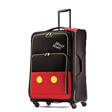 Amazon.com | American Tourister Disney Mickey Mouse Pants Softside Spinner 28, Multi, One Size | Suitcases