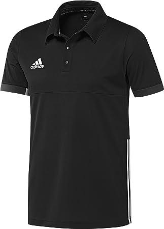 adidas Polo Camisa T16 Team, Hombre, Polo Hemd T16 Team, Negro/Blanco