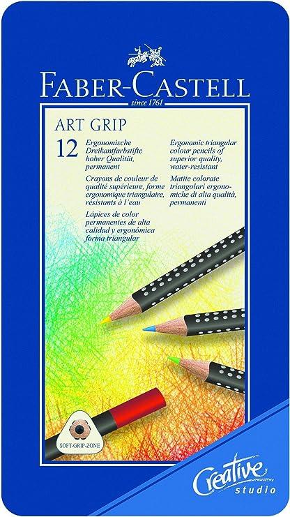 Faber-Castell Art Grip - Caja de 12 lápices de colores: Amazon.es ...