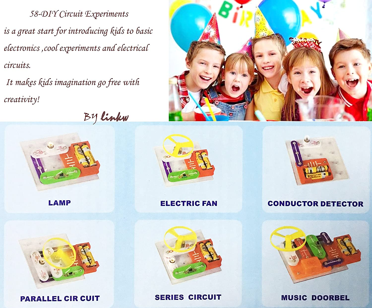 58 Diy Circuits For Kidskids Circuitskids Circuit Kit Thorough And Provides A Great Introduction To Electric Kitscience Experiments Kidsscience Kits Kidselectronic Building Block