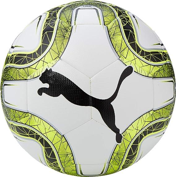 PUMA Final Lite 290 g Balón de Fútbol, Unisex, White/Lemon Tonic ...