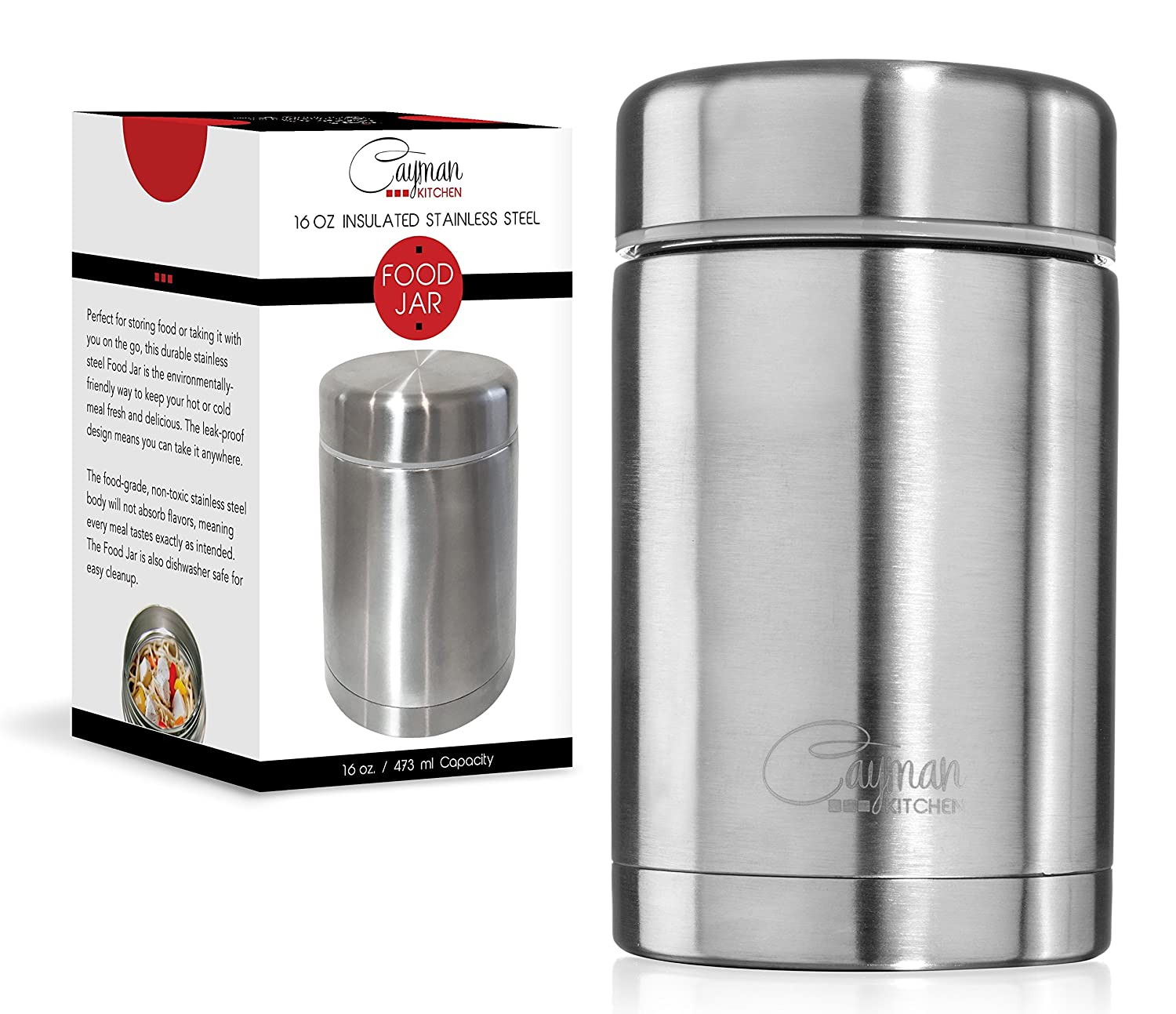 Cayman kitchen 470 ml insulated stainless steel thermos for Perfect kitchen stainless