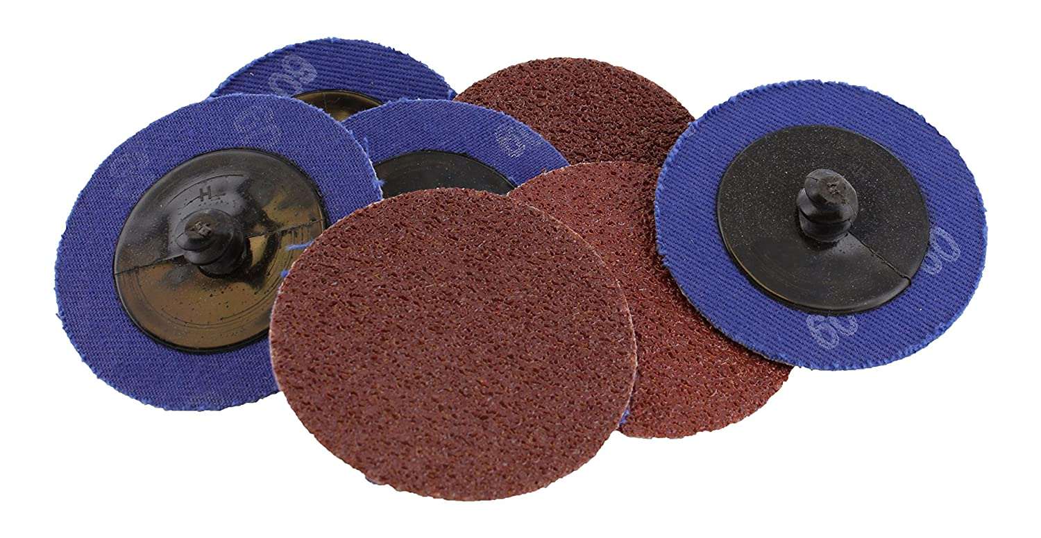 Abn Aluminum Oxide Roloc Abrasive Sanding Discs 50-Pack, 2in, 60 Grit – Metal Wheels for Surface Prep and Finishing 916ifyHCgaL