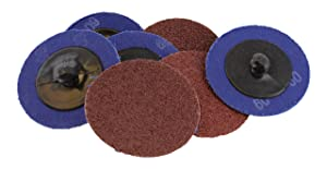 """ABN Aluminum Oxide Roloc Abrasive Sanding Discs 50-Pack, 2"""" Inch, 60 Grit – Metal Wheels for Surface Prep and Finishing"""