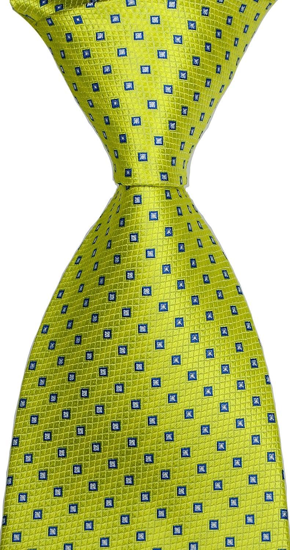 New Classic Yellow JACQUARD WOVEN Silk Men's Tie Necktie