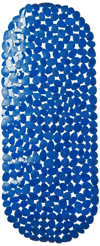 MSV 2108476-Tappetino per vasca da bagno, effetto ciottoli, 39 x 99 cm, colore: blu 141201