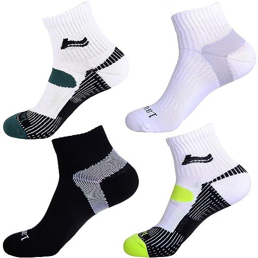 3 opinioni per Laulax®- 4 calzini da corsa professionali Coolmax, da donna e da uomo