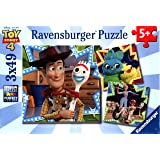 Ravensburger 08067 Disney Pixar Toy Story 4-3 X 49 Piece Jigsaw Puzzles - Vakue Set of 3 Puzzles in a Box