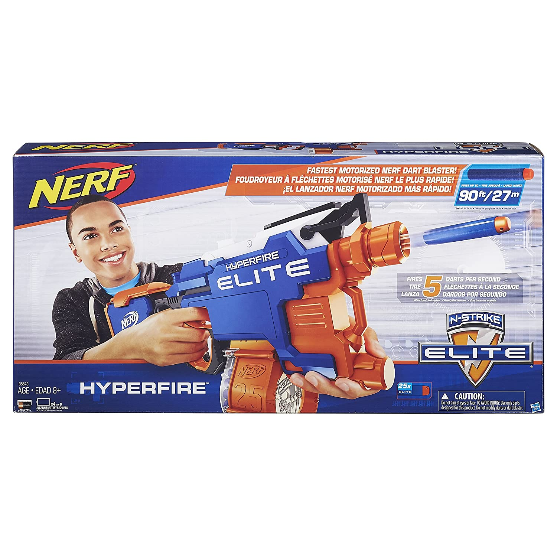 Spielzeug-Bogen, -Armbrust & -Dart Spielzeug für draußen Hasbro NERF B5573 HYPER Fire Blaster N-strike Elite günstig kaufen