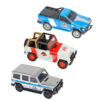 Master Toys & Novelties 3 Pc Set - Jurassic World Licensed Jeep Truck and  SUV Combo Pack