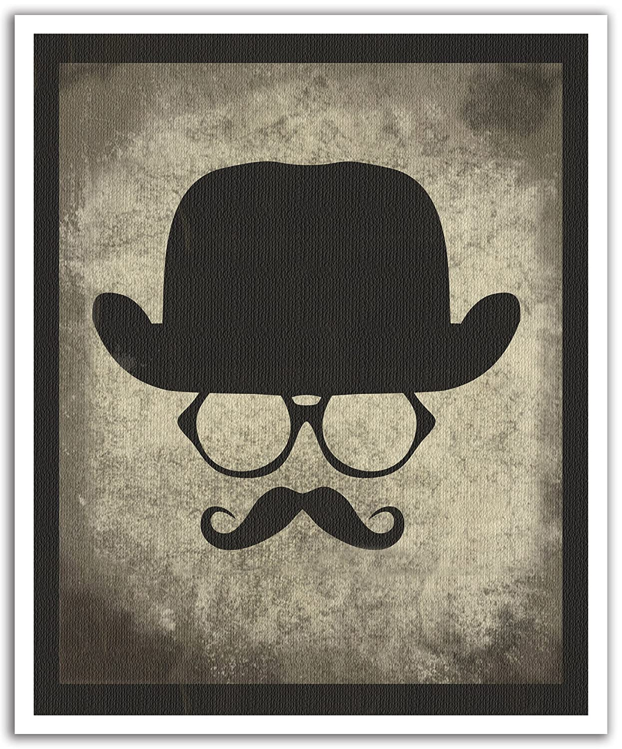 JP London POS2321 uStrip Peel and Stick Removable Wall Decal Sticker Mural Magnum PI Moustache Stache Hipster 19.75-Inch by 24-Inch