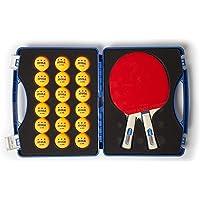Joola–Tenis de Mesa para Tour de competición Estuche con Dos Raquetas de Python