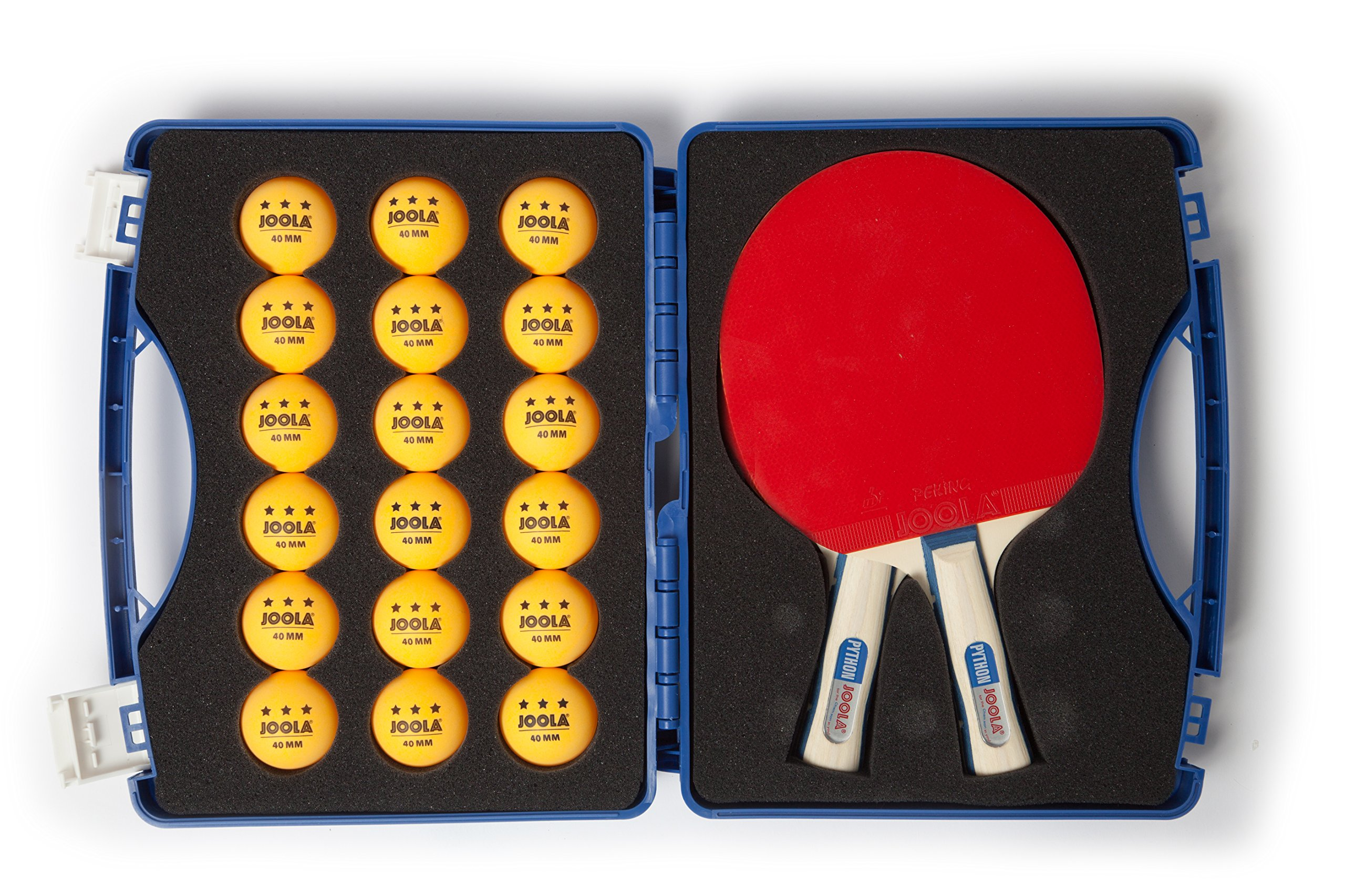 JOOLA Competition Table Tennis Tour Case with Two Python Rackets