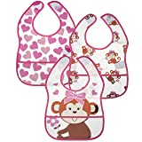 Little Me 6 Pack Crumb Catcher Bibs for Toddler