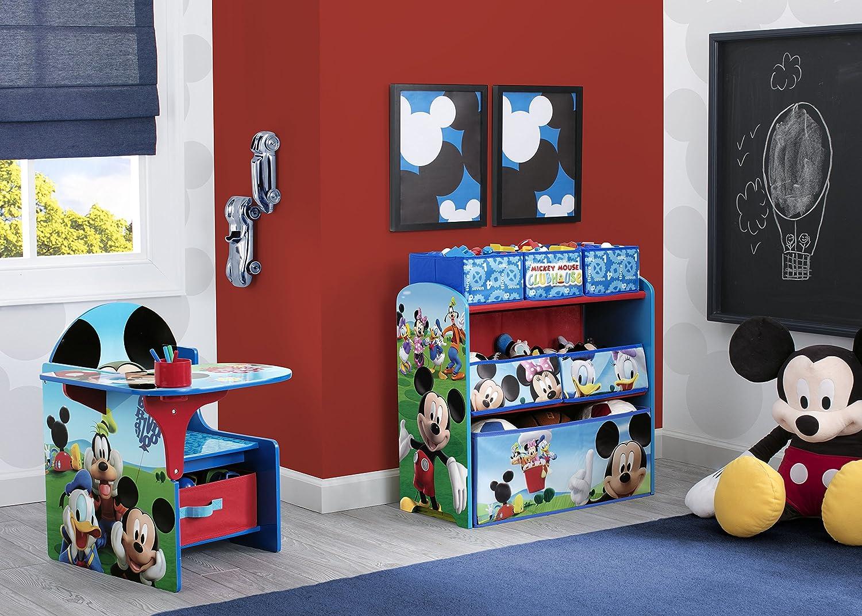 Mickey Mouse Kids Toy Organizer Bin Childrens Storage Box Bedroom Disney