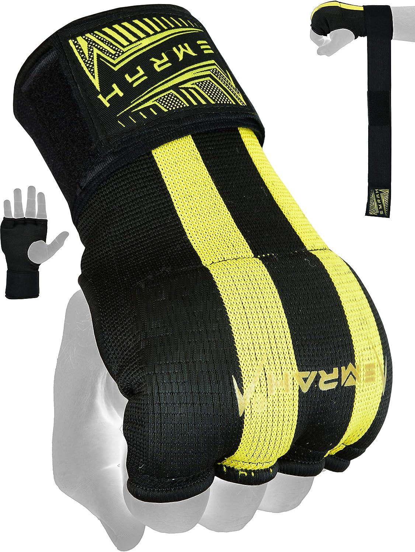 EMRAH Cinta Boxeo Vendas Mano Mu/ñeca Elasticas Interiores Guantes MMA Envolturas Vendaje Kick Boxing X
