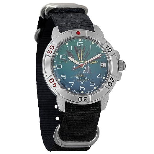 Vostok KOMANDIRSKIE 2414 431976 NB Militar ruso reloj mecánico: Amazon.es: Relojes