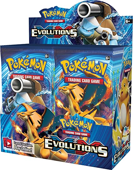 4 Sealed 2016 Pokemon Evolutions Booster Packs All 4 Arts
