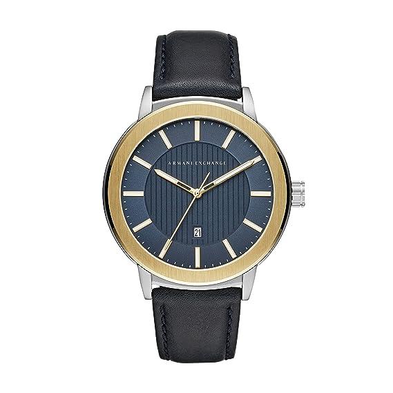 Armani Exchange Reloj Analogico para Hombre de Cuarzo con Correa en Cuero AX1463