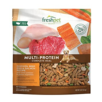 Freshpet Multi Protein Meal Chicken Beef Salmon Egg Recipe Dog Food