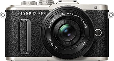Olympus Pen E-PL8 Kit, Cámara de Sistema Micro Cuatro Tercios (16,4 MP, Estabilizador de Imagen de 5 Ejes, Visor Electrónico, FHD Vídeo) + Objetivo Mo 14-42mm EZ, Negro
