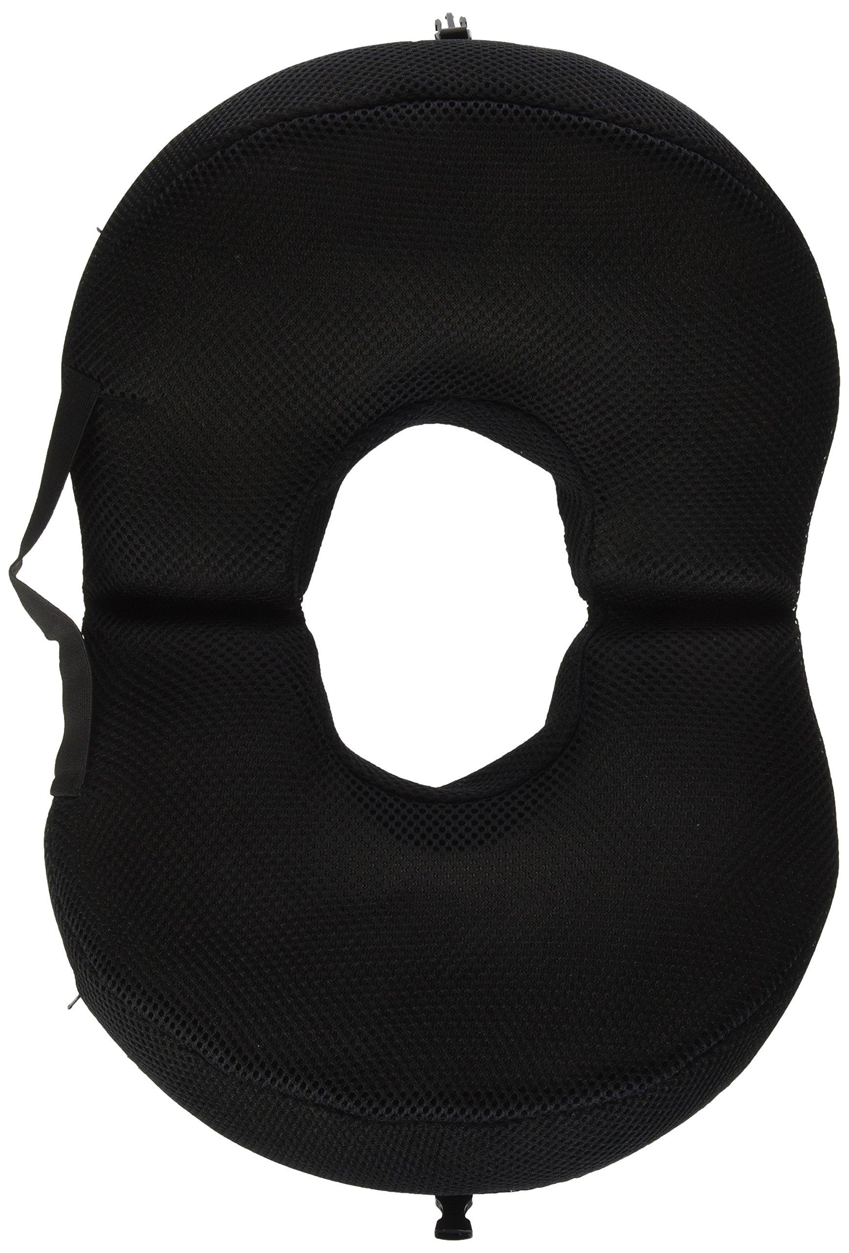 Pcp Foldable Circular Travel Ring Cushion, Black