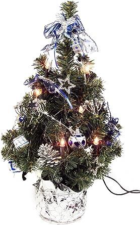 Künstlicher Weihnachtsbaum Mit Beleuchtung 45 Cm.Brauns Heitmann Weihnachtsbaum 45 Cm Mit 10 Teilig Beleuchtung Silber Blau 86990