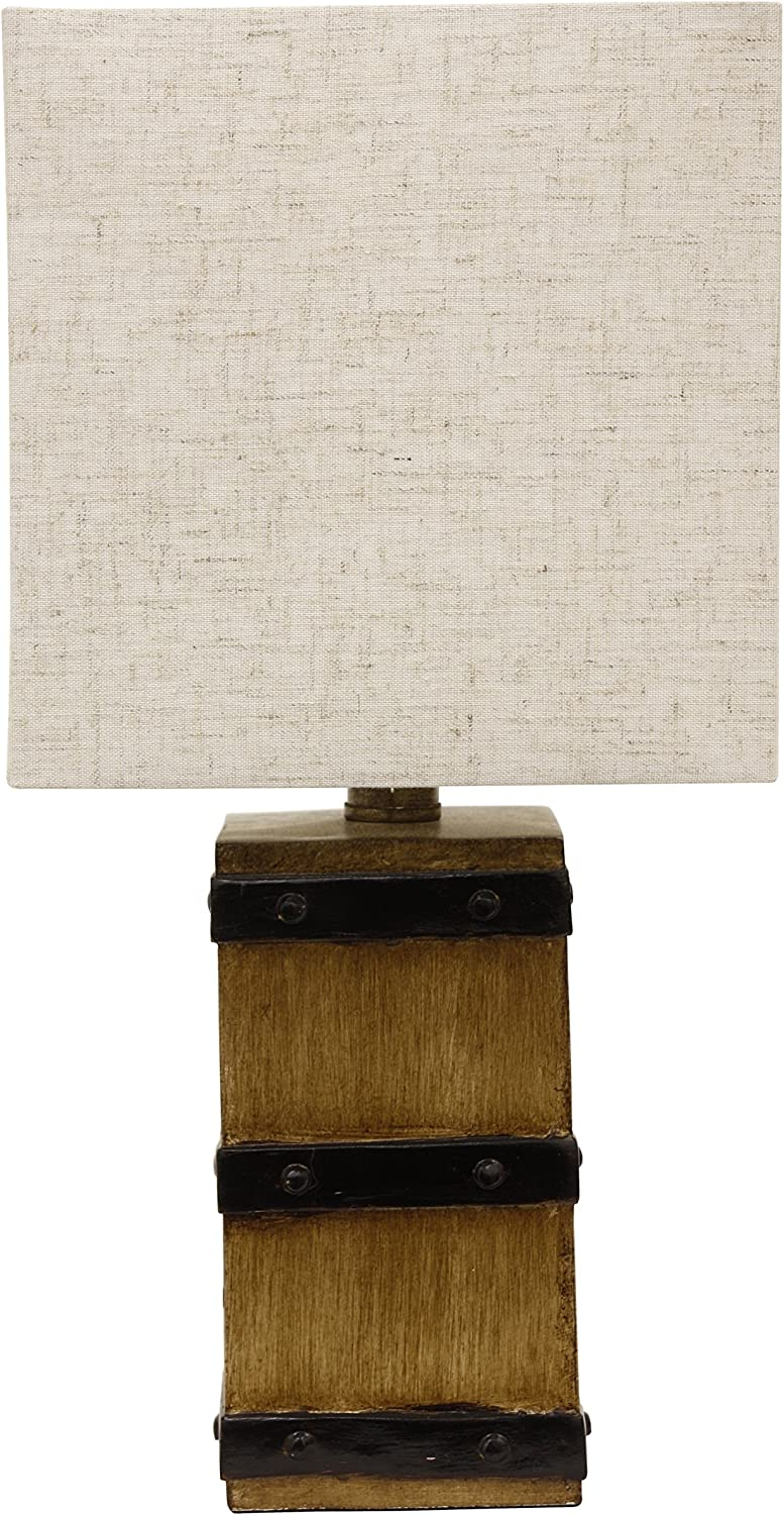 Décor Therapy TL15456 Table Lamp, Borden Brown