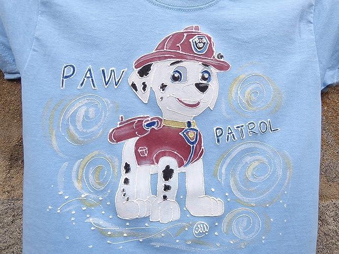 b659803f9ec59 Sale!!!30% Off,Hand Painted Paw Patrol Shirt/Paw Patrol Marshall ...