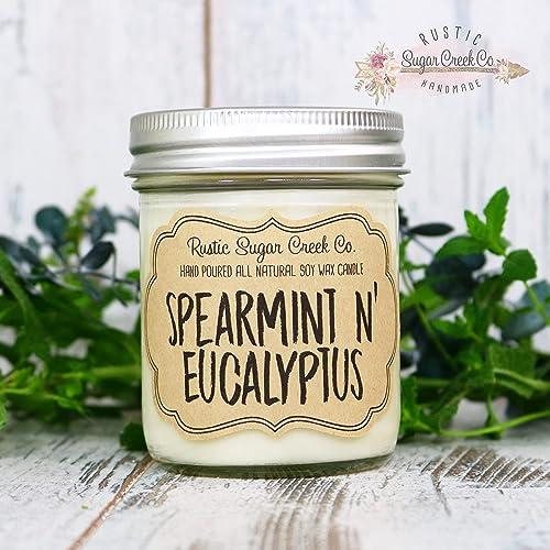 Amazon.com: Spearmint N Eucalyptus Scented Candle ...