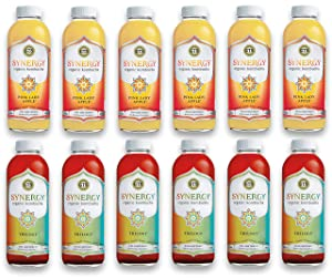 LUV BOX-Variety GT's KOMBUCHA Synergy Kombucha Pack,16 fl oz,12 pk,Pink Lady Apple , Trilogy