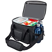 Lunch Box for Men 18 cans Large Leak-proof Insulated Big Lunch Box Lunchbox Adult Men with Shoulder Strap and Side Pocket for Work and Outdoor…