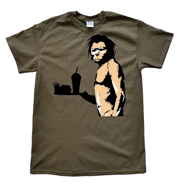 Stooble Men's Banksy Caveman T-Shirt Stooble - 1ClickPrint