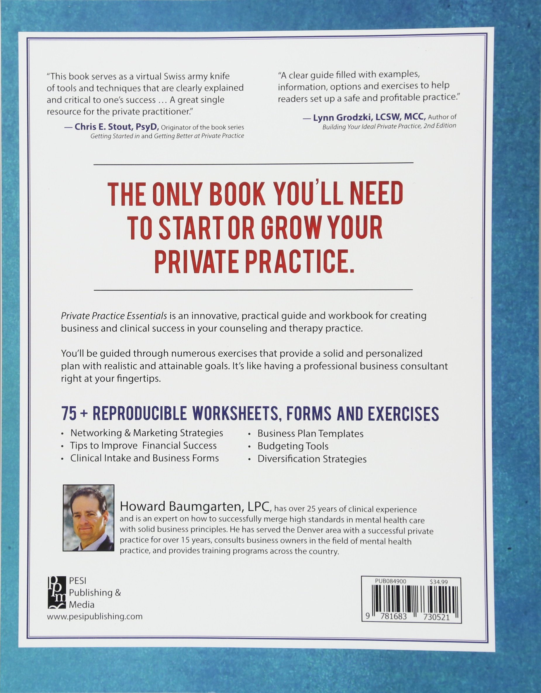 Private practice essentials business tools for mental health private practice essentials business tools for mental health professionals howard baumgarten 9781683730521 amazon books wajeb Image collections