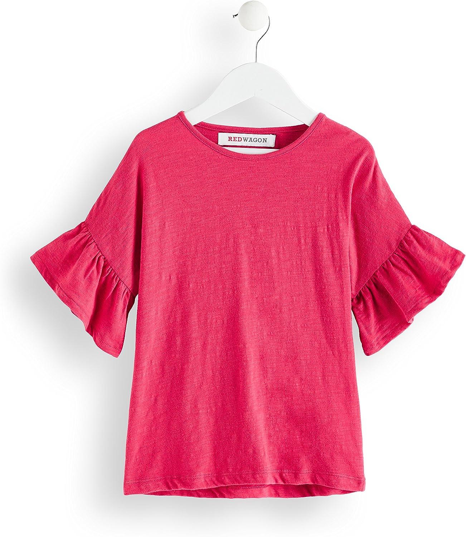 RED WAGON T-shirt con Volant alle Maniche Bambina Marchio