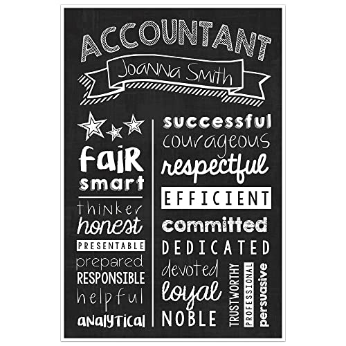 Accountant Chalkboard Wall Art –Accountant Graduate Gift – Accountant Appreciation Personalized Poster