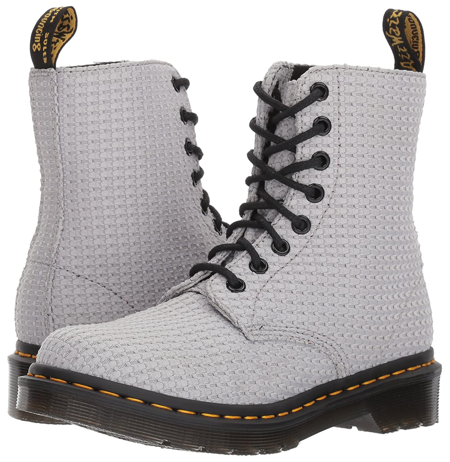 Dr. Martens Women's Page WC Fashion Boot B01N0Y1XET 6 Medium UK (8 US)|Mid Grey Waffle Cotton