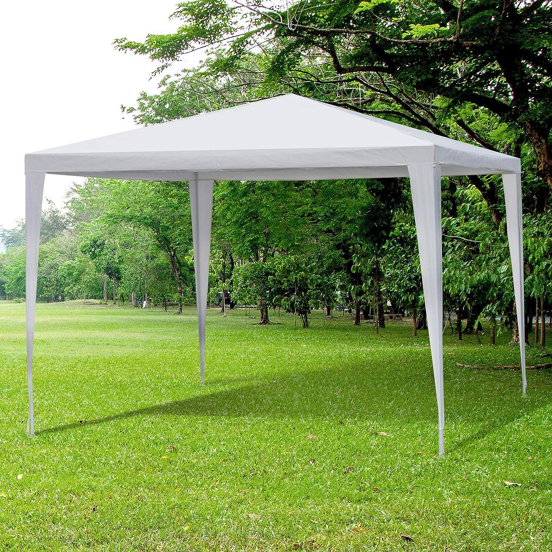 Outsunny Carpa 3x3x2, 45m Pabellón de Jardín de Tubo de Acero ...