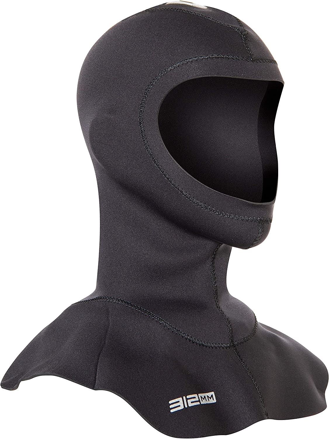 Neo Sport Multi-Density Wetsuit Hood available in three thicknesses 3//2MM 5//3MM Anatomical fit Skin Neoprene face seal which can be trimmed by owner for a custom fit 7//5MM with Flow Vent to eliminate trapped air