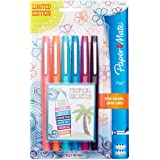 Paper Mate Flair Porous-Point Felt Tip Pen, Medium Tip, Limited Edition Tropical Vacation Colors, 6-Count