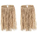 "Beistle , 2 Piece Teen Raffia Hula Skirts, 28"" Waist x 26"" Length (Natural)"